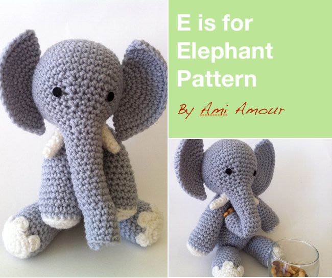 Crochet Elephant Pattern : is for Elephant Amigurumi Pattern Crochet PDF. $5.00, via Etsy.