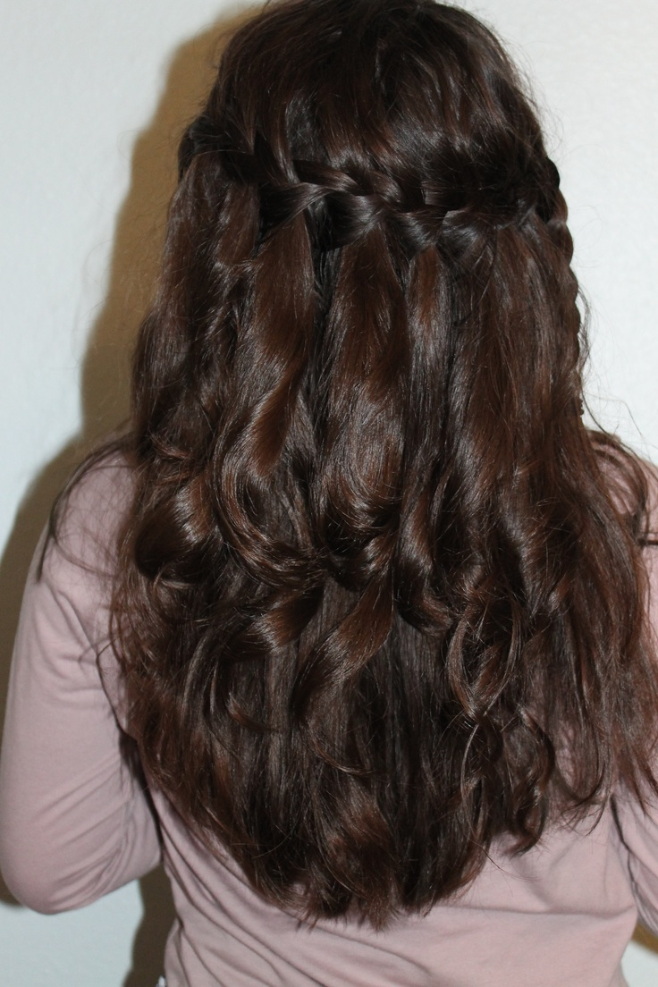 Waterfall Braid With Curls Anything Pinterest