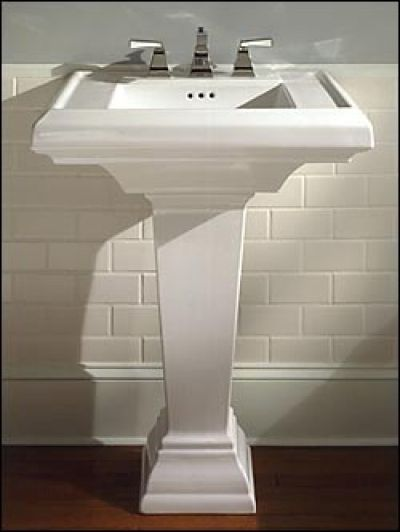 Pedestal Sink Backsplash : Pedestal Sink Bathroom Ideas - All Pinterest