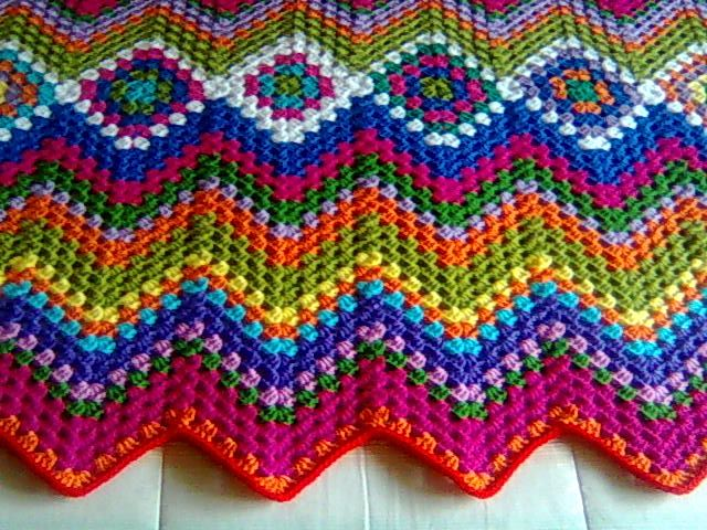 Crocheting Zig Zag Pattern : crocheted Manta Hueco Zig Zag afghan Crochet Pinterest
