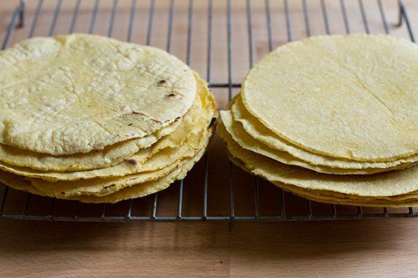 homemade corn tortillas + baked tortilla chips