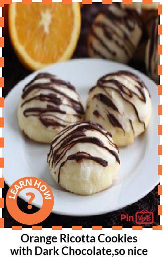 Orange Ricotta Cookies with Dark Chocolate... Chocolate and orange ...