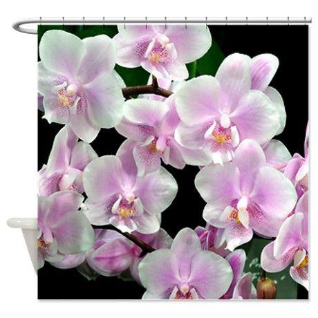 Pink orchids shower curtain shower curtains pinterest