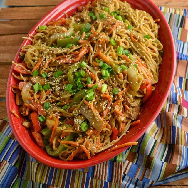Spicy Thai noodles with peanut sauce   Home Sweet & Savory Home   Pin ...