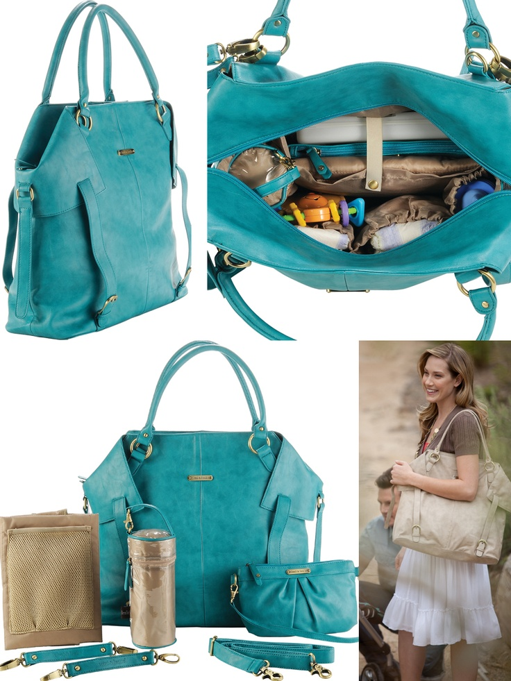 nwt timi and leslie charlie ii teal faux leather designer diaper bag i want this. Black Bedroom Furniture Sets. Home Design Ideas