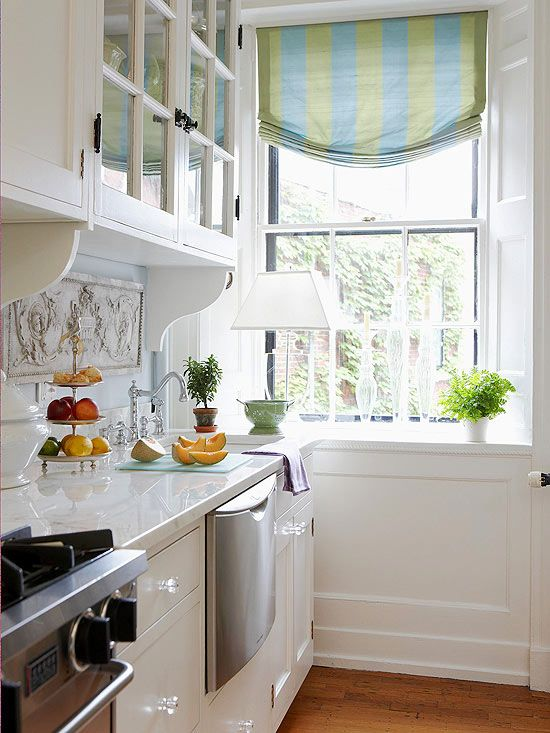 Galley Kitchen Replace Solid Cabintes With Glass Paint White