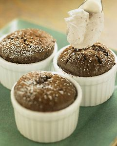 ... from The Nest - Mocha Soufflés with Cacao Nib Whipped Cream //cdm