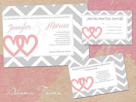 Wedding Invitation Set by VisionsDesigns on Etsy