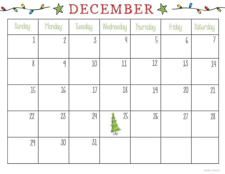 December Kids Calendar : Free printable december calendar for kids new