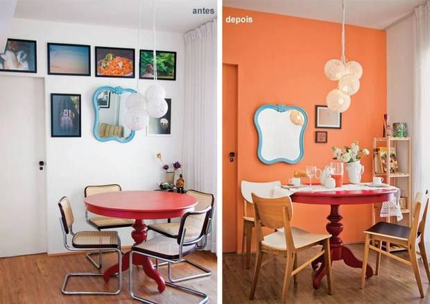 Decoracao Sala Pequena Retro ~ antes e depois  sala de jantar  Decoração  idéias e