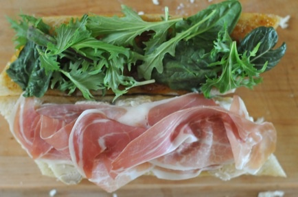 Prosciutto, Brie, Fig Jam & Arugula sandwich. I need someone to bring ...
