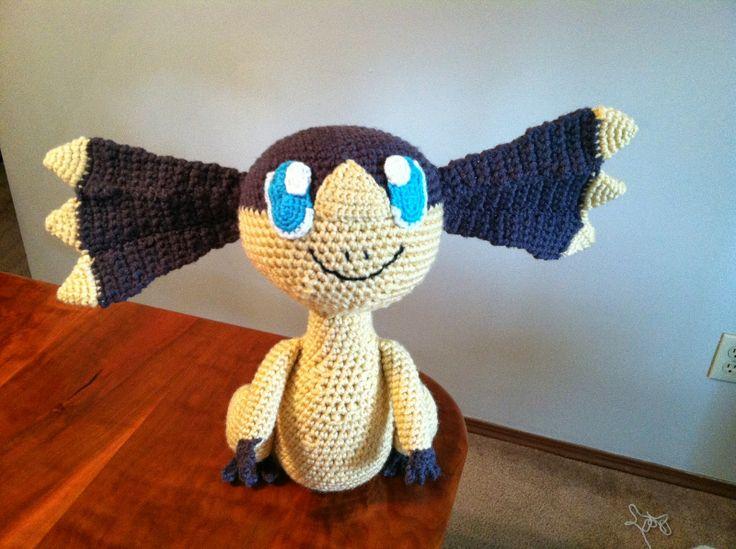 Crochet Patterns Pokemon Characters : Helioptile - Pokemon Character - Free Amigurumi Pattern here: http ...
