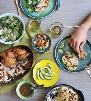 roasted chicken tacos with chipotle butter. thank you bon appetit!