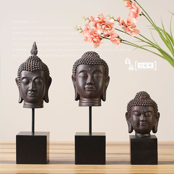 Buddha decor heads  Dream Home Ideas  Pinterest