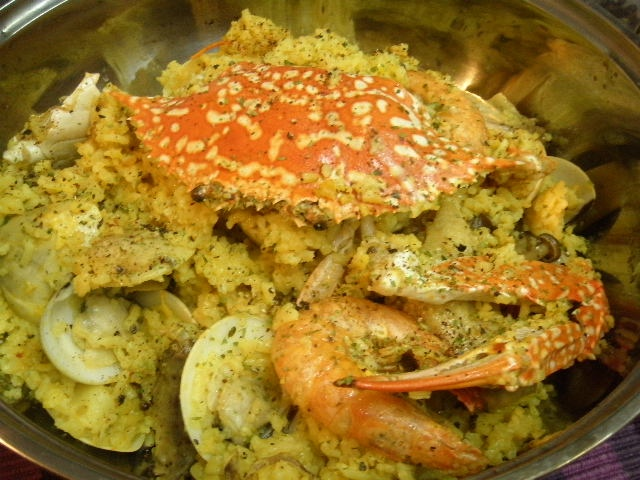 Homemade Easy Seafood Paella | Foodaliciousness | Pinterest