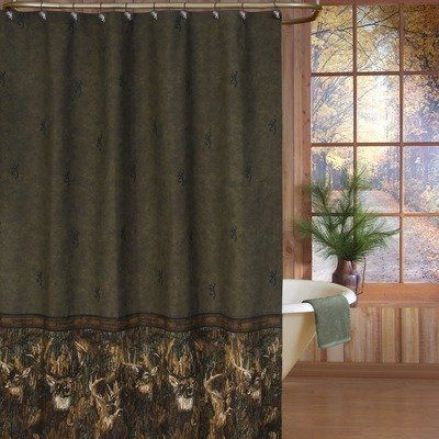 Whitetails shower curtain in green by browning bedding http www