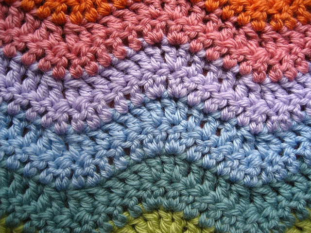 Crochet Stitches Granny Ripple : Ripple detail by Attic24, via Flickr Crochet Pinterest