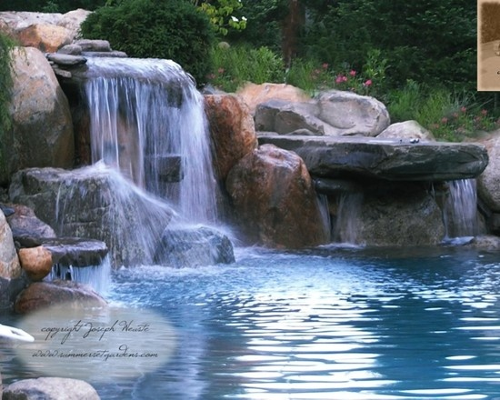 Waterfall pool design for Pool design waterfall