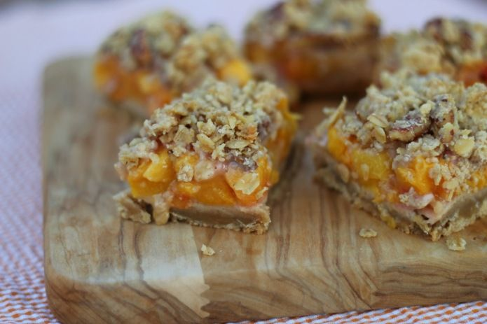 peach amp pecan oat crumble bar