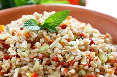 Farro with Feta Cucumbers and Sun-dried Tomatoes — Punchfork