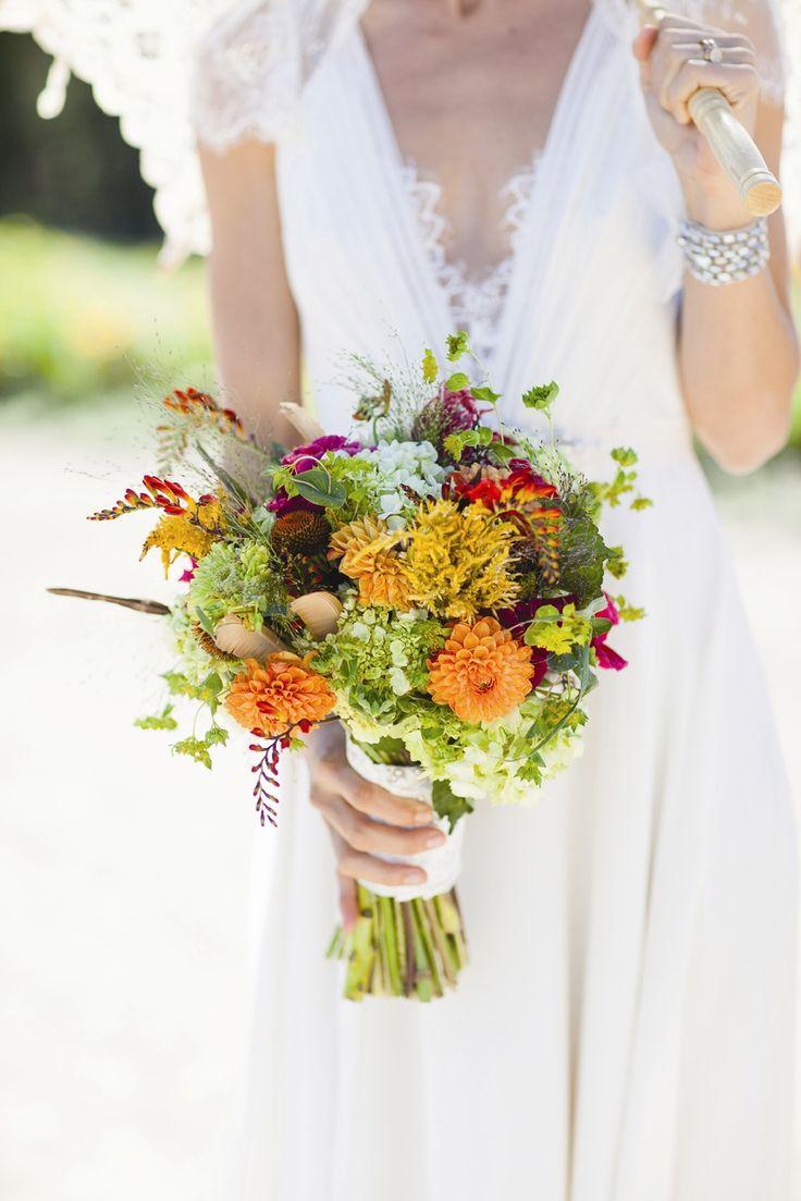 And Orange Bridal Bouquet Art In Bloom Flowers Larissa Cleveland