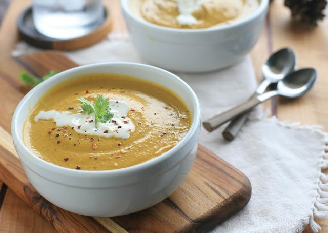 Vegan Curried Pumpkin Cream Soup | Girl Cooks World