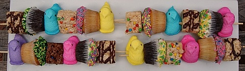 Easter Peep Kabobs. Is this not adorable? Kids would go crazy over ...