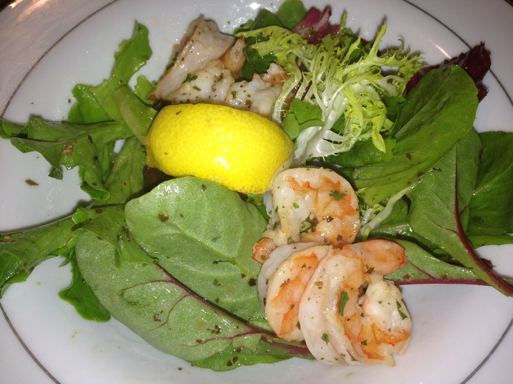 Poached shrimp salad tossed with a white balsamic citrus basil ...