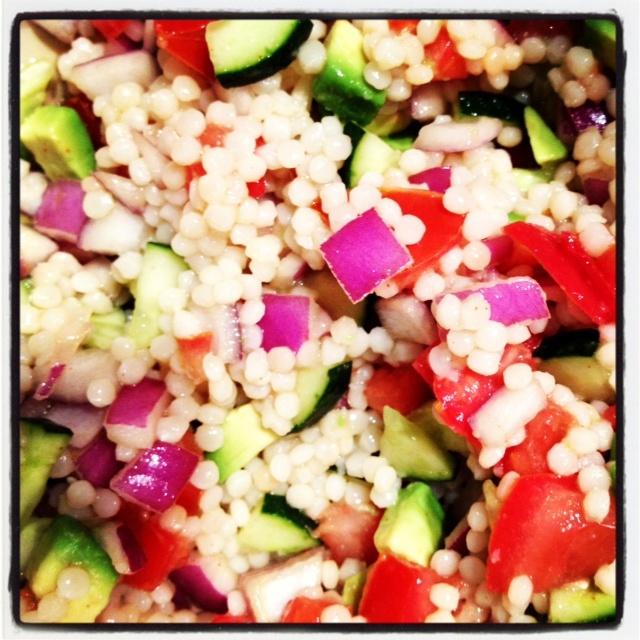 spring couscous salad with basil vinaigrette a simple spring salad ...