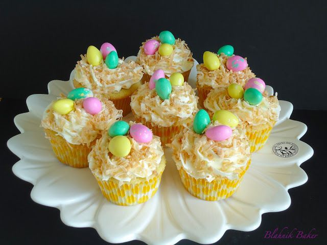 Coconut Cupcakes (Bird Nest Cupcakes) | Recipe