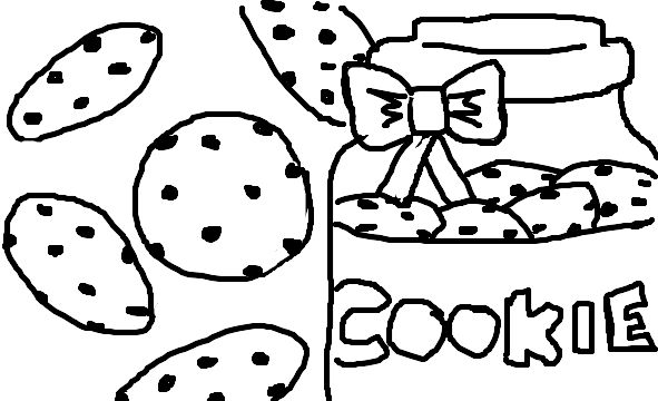 Chocolate Chip Cookie Coloring Pages Cookies Coloring Pages