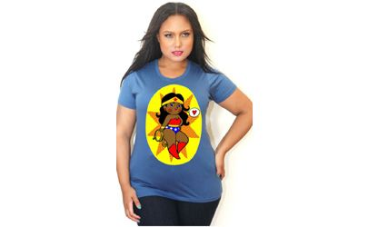Sponsored plus size fashion trend of the day wonder woman crew tee