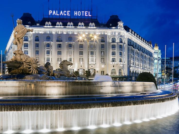 Westin palace madrid facade at sunset hotels pinterest - Hotel the westin palace madrid ...