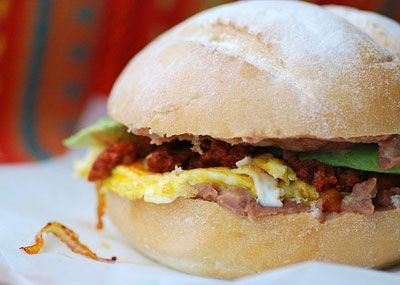 Mexican Breakfast Torta / Saveur.com | ♦ Hello, Morning! | Pinterest