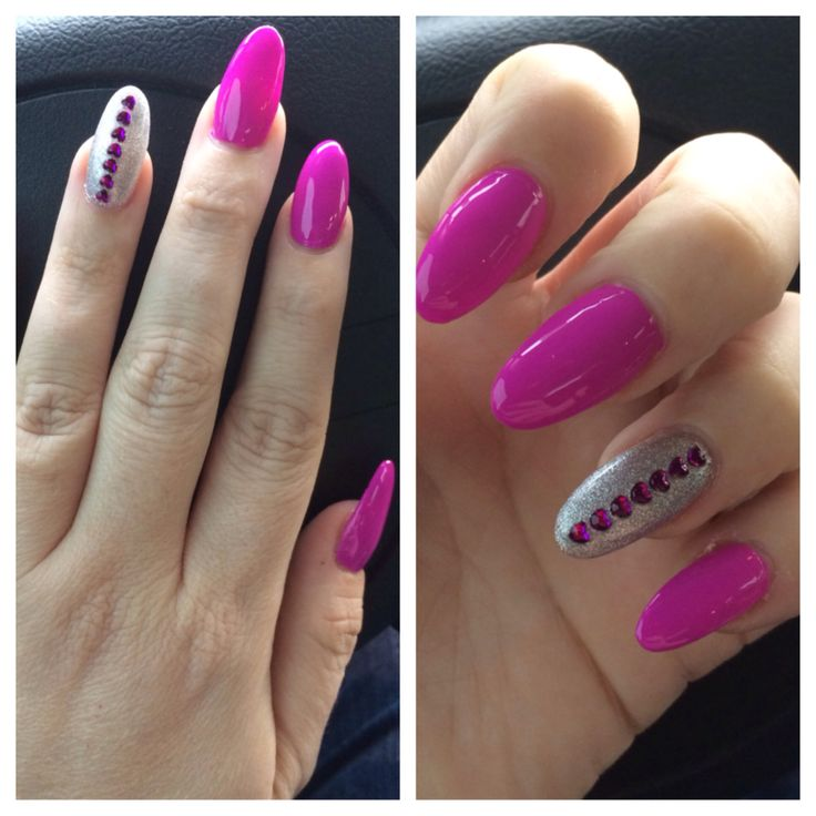 Nail art design purple pointy nails. | Awesome nail design | Pinterest