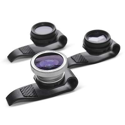"""""""The Four Corner Store has released a new trio of lenses that you can just slip on your iPhone, iPad or almost anything with a tiny lens and start shooting."""" >> OOHHH I do believe I need these!"""