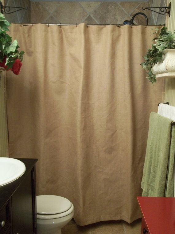 Burlap Shower Curtain Rustic Country by SimplyFrenchMarket