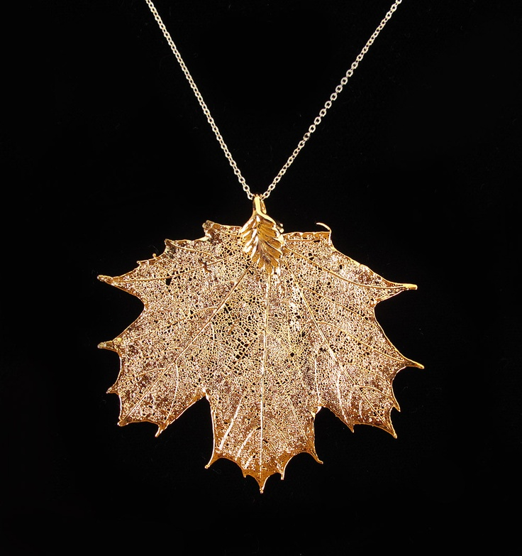 gold dipped maple leaf necklace jewellery
