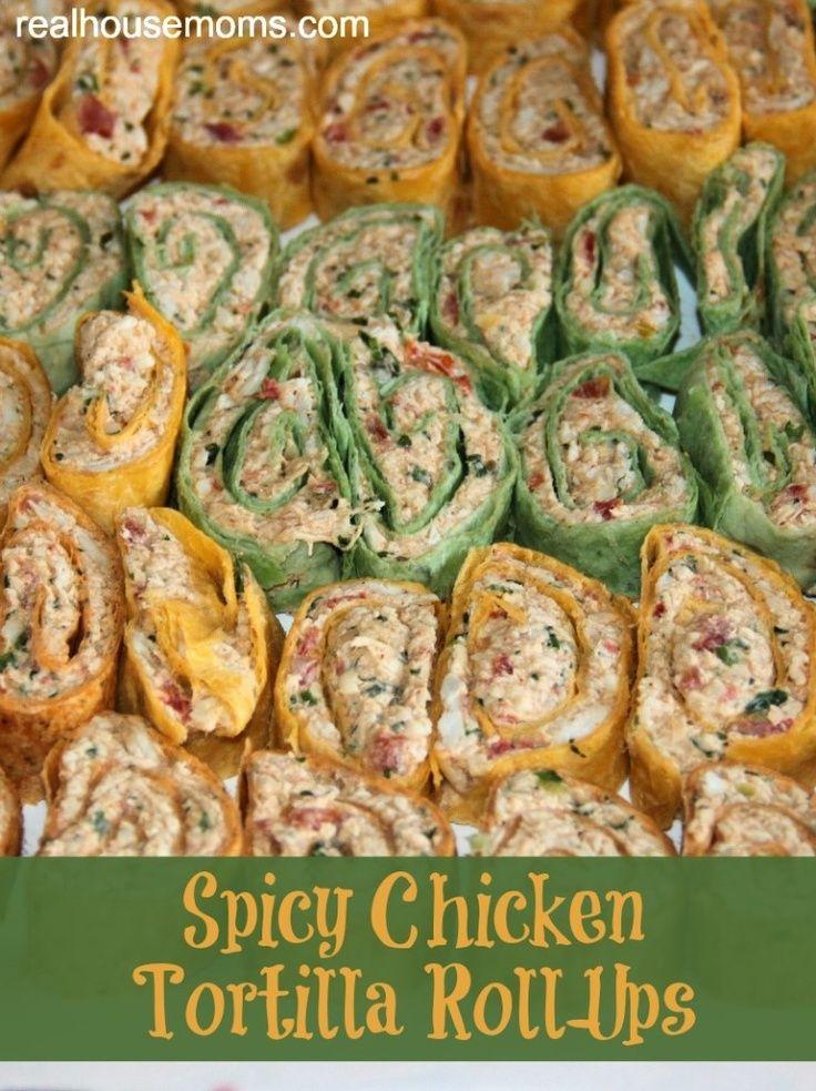 Spicy Chicken Tortilla Roll-Ups. | cooking | Pinterest