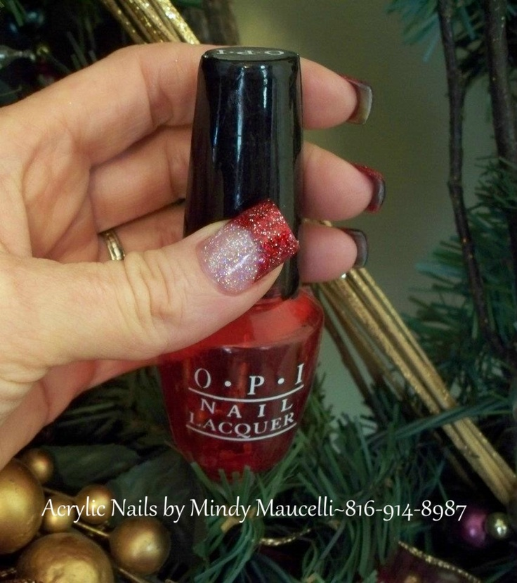 Nail Art by Mindy Maucelli located in Historic Liberty, MO. Christmas
