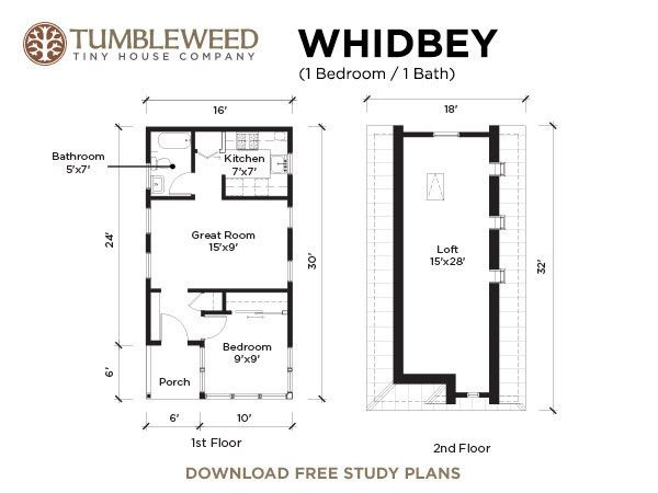 Whidbey plans for Tumbleweed floor plans