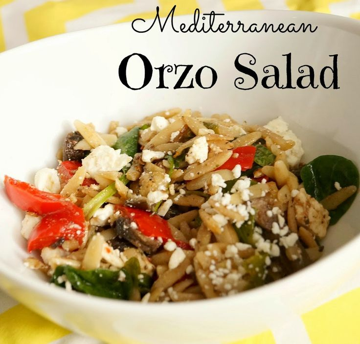Orzo Salad with Roasted Vegetables | Healthy salads | Pinterest