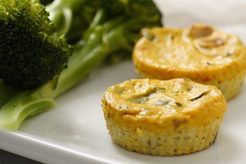 Mini Crustless Tofu Quiches | recipe from FatFree Vegan Kitchen