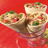 Tuna Ceviche Wrap with fresh red onion, tomatoes, jalapeno and ...