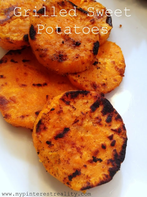 "Grilled Sweet Potatoes: haven't tried this exact ""recipe"" but w..."