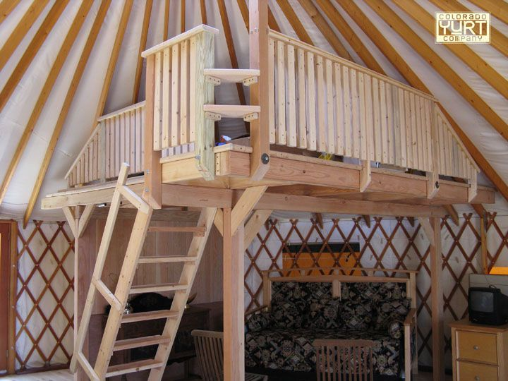 Pin by ali linley on yurts pinterest for Yurt interior designs