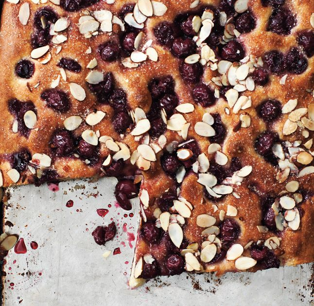 Cherry Almond Focaccia Bon Appetit, April 2012 Cooked by Kathleen Heck ...