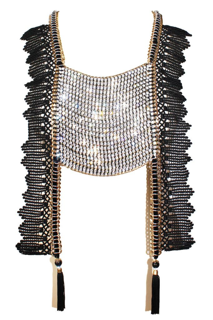 Statement Necklace, jewelled vest