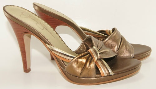 JESSICA SIMPSON womens shoes size 6.5B sandals high heels dress. Free