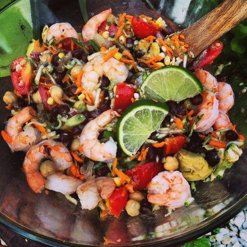 Shrimp and Black Bean Salad recipe #SaladRecipes